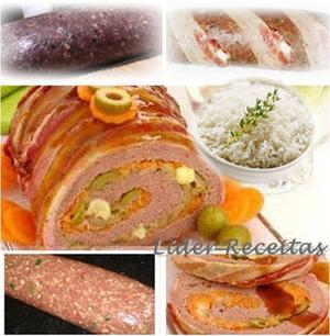 Receita de Rocambole Prático de Carne Moída