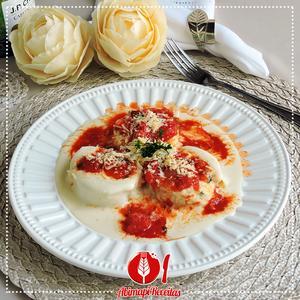 Receita de Rondeli de Espinafre, Ricota e Tomate Seco