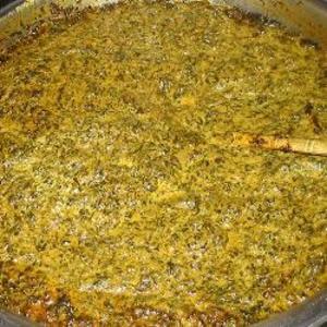 Receita de Saag (folhas de mostarda e espinafre à moda indiana)