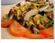 Salada berinjela e abobrinha