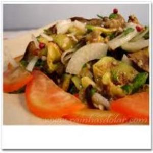 Receita de Salada berinjela e abobrinha