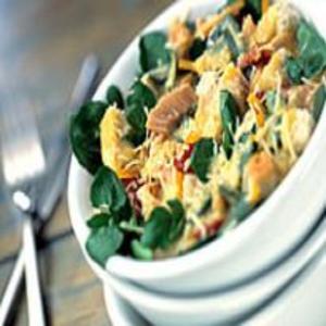 Receita de Salada Caesar de Agrião