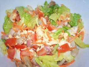 Receita de Salada Calórica com Ovos