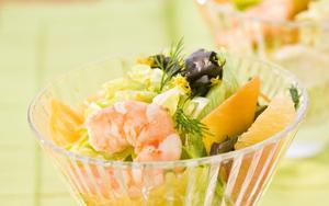 Receita de Salada cítrica com camarão