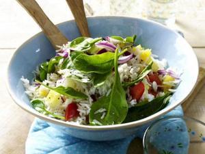 Receita de Salada de Arroz Exótico