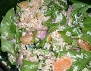 Salada de Arroz Integral com Vinagrete de Laranja