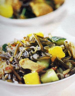 Receita de Salada de Arroz Selvagem