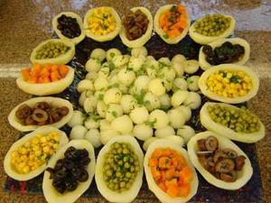 Receita de Salada de barquetes de batatas recheadas