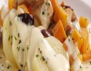 Salada de batata com frango