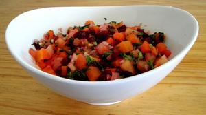 Receita de Salada de beterraba, cenoura e tomate
