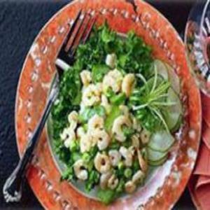 Receita de Salada de Camarão com Folhas Verdes