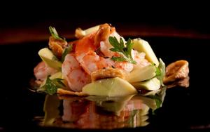 Receita de Salada de camarões com abacate