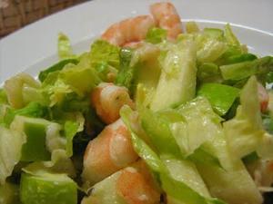 Receita de Salada de Camarão e Maçã Verde