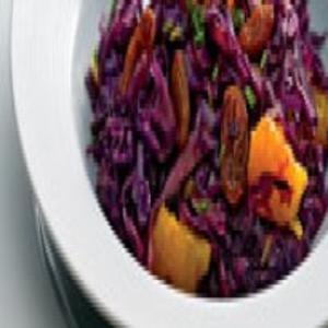 Receita de Salada de Couve Roxa com Mexerica