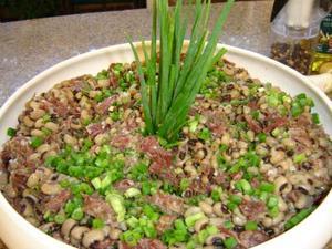 Receita de Salada de feijão fradinho e carne seca
