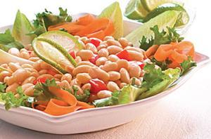 Receita de Salada de Feijão Branco com Tomates Seco