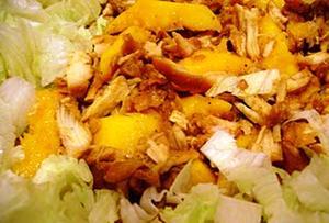 Receita de Salada de Frango com Manga