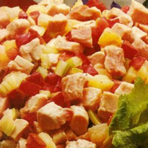 Receita de Salada de frango defumado com molho