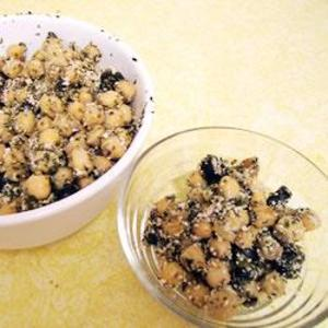 Receita de Salada de grão-de-bico e macarrão