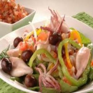 Receita de Salada de lulas