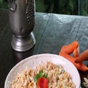 Receita de Salada de Macarrão Colorida