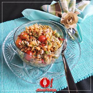 Receita de Salada de Macarrão com Lentilhas