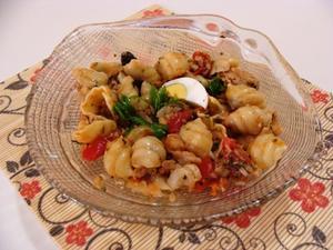 Receita de Salada de macarrão e bacalhau