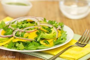 Receita de Salada de manga com abacate