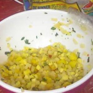 Receita de Salada de manga e pêssego com pimenta
