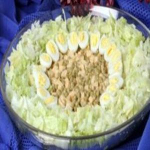 Receita de Salada de palmito e ervilha