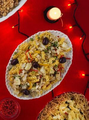 Receita de Salada de Parafuso com Bacalhau