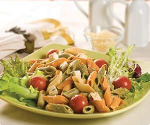 Receita de Salada de penne tricolor