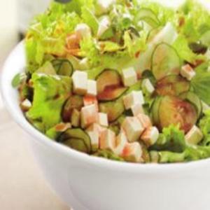 Receita de Salada de pepino e queijo