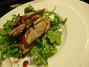 Receita de Salada de Rúcula, Peito de Pato e Romã