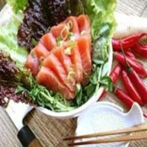 Receita de Salada de sashimi