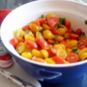 Receita de Salada de tomates cereja