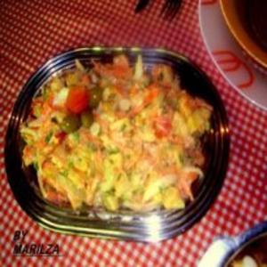 Receita de Salada Fria de Mandioca