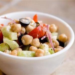 Receita de Salada grega de grão de bico