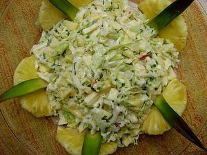 Receita de Salada refrescante de abacaxi