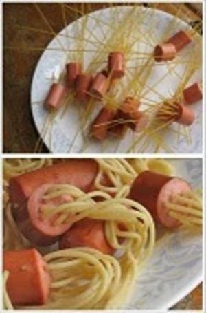 Receita de Salsichas diferentes com massa