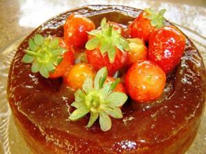 Receita de Savarin com morangos