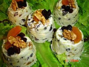 Receita de Sformato de gorgonzola e frutas secas
