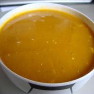 Receita de Sopa Creme de Abóbora com Carne Desfiada