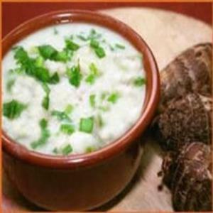Receita de Sopa de Inhame e Carne Moída