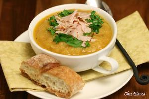 Receita de Sopa de legumes com peito de peru