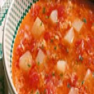 Receita de Sopa de tomate com ovos