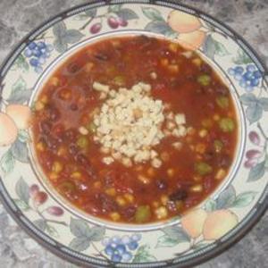 Receita de Sopa de tomate e grão-de-bico
