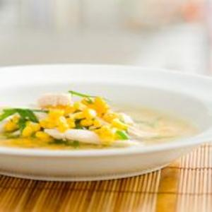Receita de Sopa rápida de frango com milho