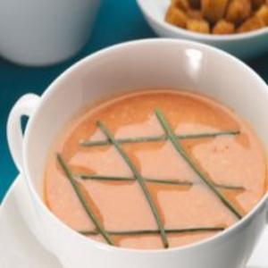 Receita de Sopa rosada com queijo