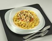 Spaghetti ao Molho Cremoso com Cação